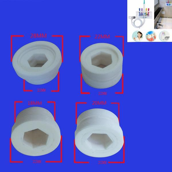 YAS 1 Pack 4 Pieces Screw Nuts for Dental Spa Unit Oral Irrigator Teeth Cleaner Floss Water Jet - Slabiti