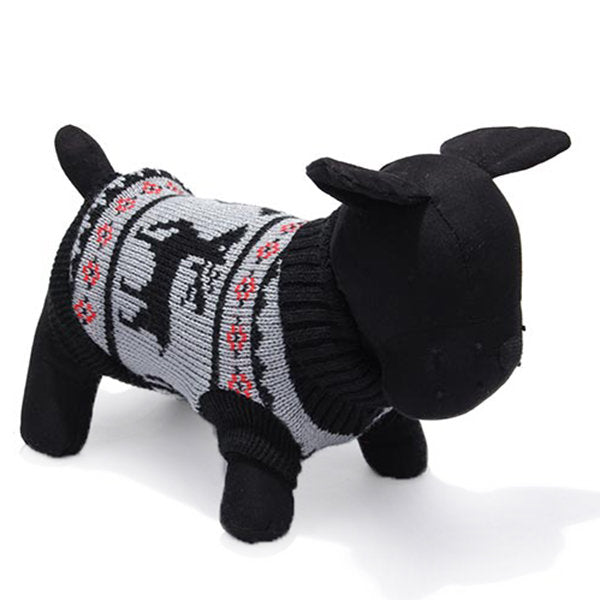 Deer Pet Dog Knitted Breathable Sweater Outwear Apparel - Slabiti