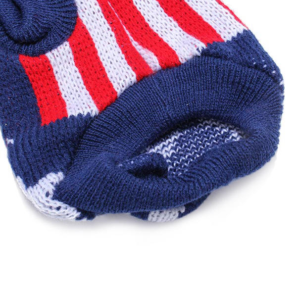 Dark Blue UK Flag Pet Dog Knitted Breathable Sweater Outwear Apparel - Slabiti
