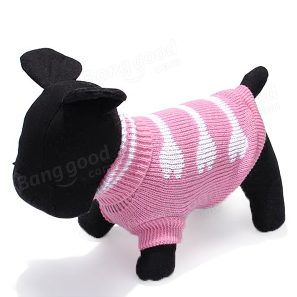 Three Bone Type Turtleneck Pet Dog Knitted Breathable Sweater Outwear - Slabiti