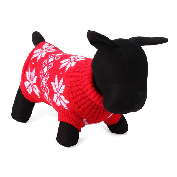 Maple Leaf Pet Dog Knitted Breathable Sweater Outwear Apparel - Slabiti