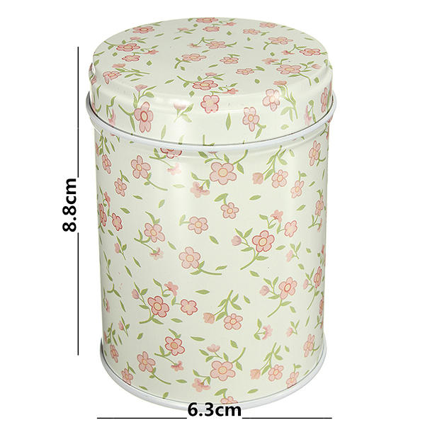 Double Cover Cylinder Tea Boxes Food Storage Caddy Tins Canister - Slabiti