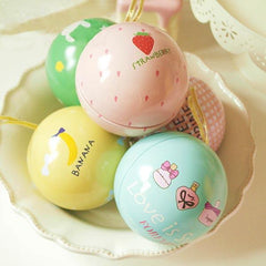 Happy Sweet Ball Tea Box Gift Candy Jewelry Storage Tin Can - Slabiti