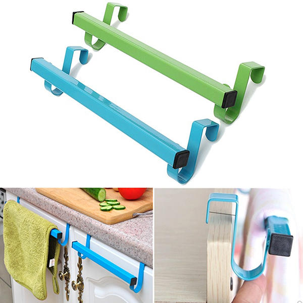 24cm Space Saving Door Drawer Towel Hanger Bathroom Clothes Holder - Slabiti