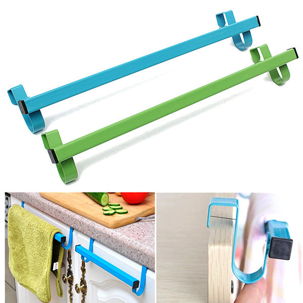 34cm Space Saving Door Drawer Towel Hanger Bathroom Clothes Holder - Slabiti