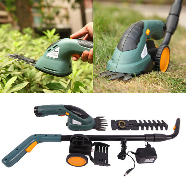 East 3.6V 2 In 1 Electric Cordless Grass Shear Hedge Trimmer Power Tool - Slabiti