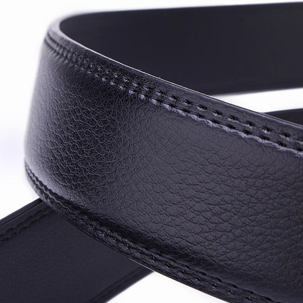 120CM Mens Belt Peritoneal Second Layer Leather  Business Automatic Alloy Buckle Strip - Slabiti