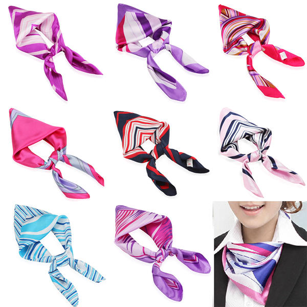 Mix Color Womens Silk Scarf Kerchief Airline Stewardess Scarves Business Wear - Slabiti