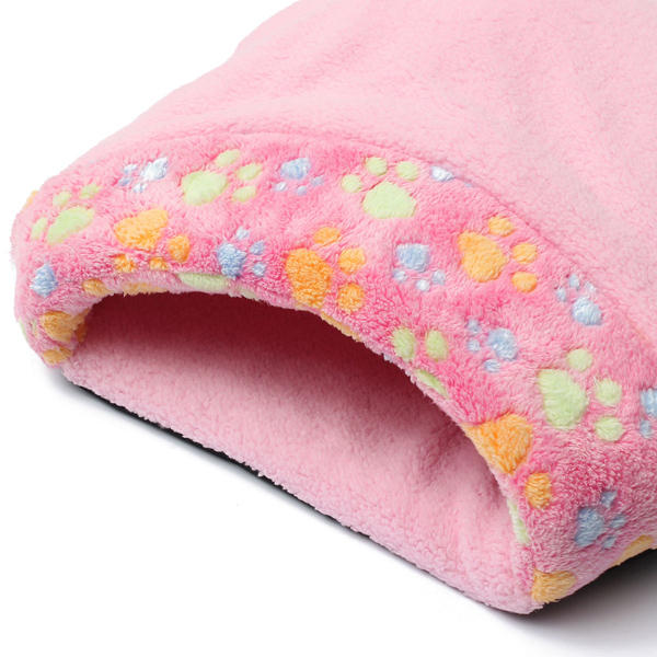 Lovely Warm Cat House Soft Kitten Sleeping Bag Cute Cat Bed Cave - Slabiti