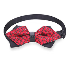 Men Bow Tie The Groom Sharp Corner Polyester Wedding Accessories - Slabiti