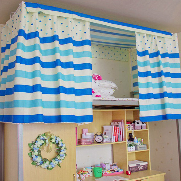 Cotton Stripe Dormitory Bunk Bed Curtain Shading Cloth Mosquito Nets - Slabiti
