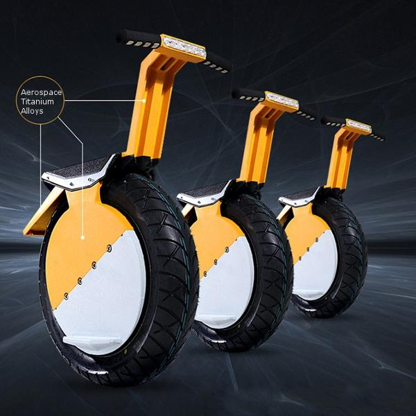 One-Wheel Motorcycle 17inch Vacuum Tire Self Balance With LED Headlight - Slabiti