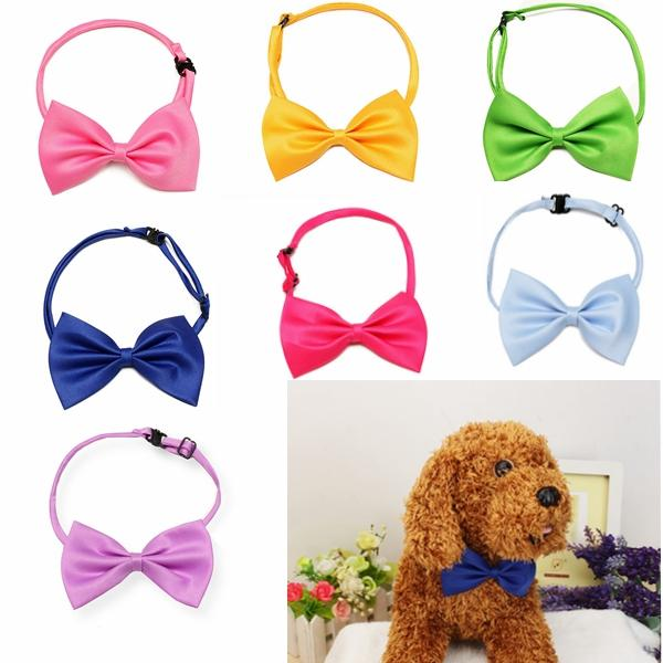 Cat Dog Neck Tie Dog Bow Tie Pet Grooming Supplies Pet Headdress Bow-tie Necktie - Slabiti