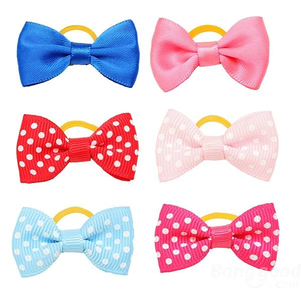 Cute Handmade Pet Hair Bows Colorful Pet  Dog Cat Hairpin Hair Accessories - Slabiti