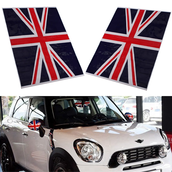 2Pcs Union Jack UK Flag Vinyl Mirrors Stickers For Mini Cooper - Slabiti