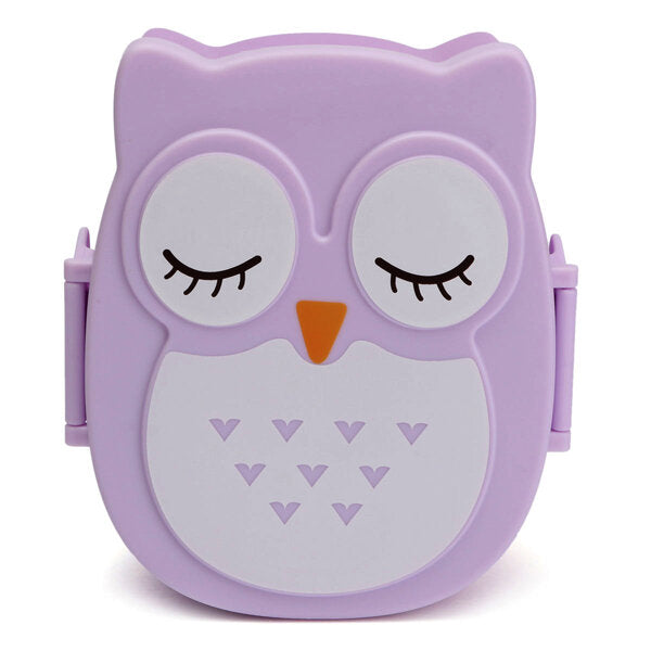 900ml Plastic Bento Lunch Box Square Cartoon Owl Microwave Oven Food Container - Slabiti