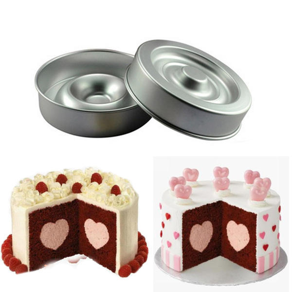 Heart Shape Layer Cake Pan Mold Aluminum Cake Pans - Slabiti
