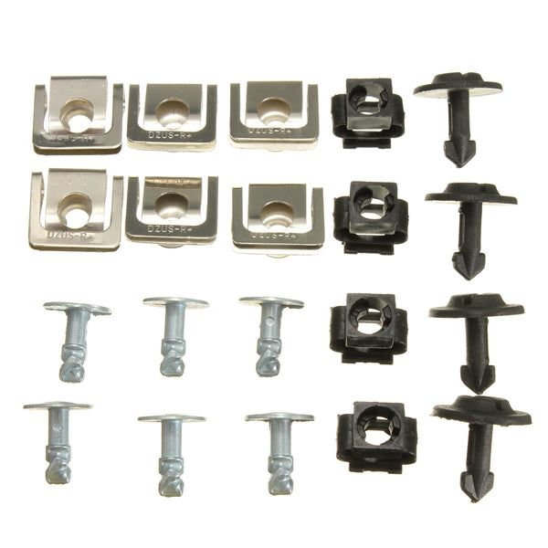 Set Undertray Guard Engine Cover Fixing Fitting Clips Screws Kit For AUDI A4 A6 - Slabiti