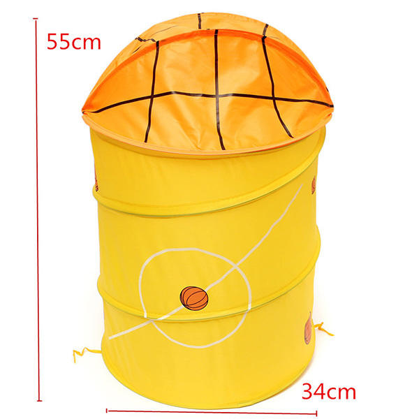 Foldable Laundry Basket Clothes Storage Bag Bath Hamper Sundries Bin - Slabiti