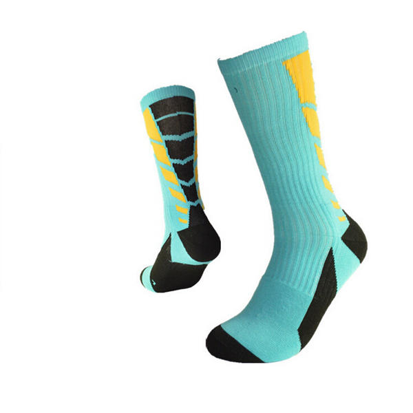 Mens Colorful Professional Outdoor Sport Breathable Long Basketball Socks - Slabiti