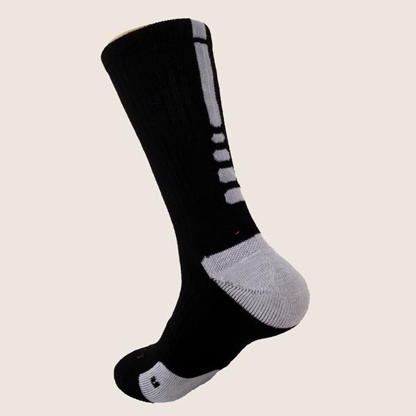 Mens Middle Tube Professional Quick-dry Basketball Sports Socks - Slabiti