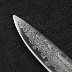 "SUNNECKO 3.5"" Damascus Paring Knife Japanese Steel Core Sharp Blade Kitchen Knives Wood Handle Cleaver Fruit Peeling Sashimi - Slabiti"