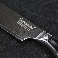 "SUNNECKO 5"" inches Santoku Knife 73 layers Damascus Steel Razor Sharp Blade Kitchen Knives with Pakka Wood Handle Cooking Tools - Slabiti"