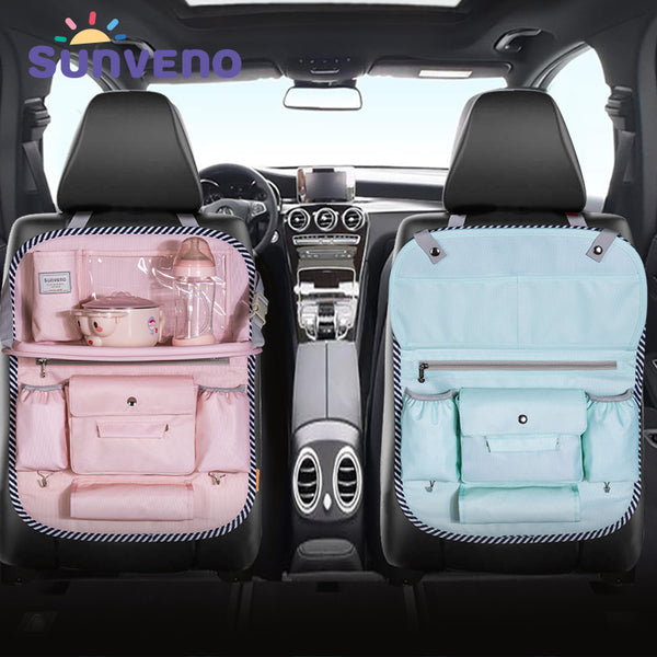 SUNVENO Multi-color Auto Car Seat Back Bag Cloth Multi-Pocket Storage Bag Organizer Holder Accessory Diaper bag - Slabiti