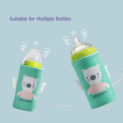 SUNVENO Portable Milk Bottle Warmer for Babies USB Charging Heating Thermo Bag Keep Baby Milk or Water Warm - Slabiti