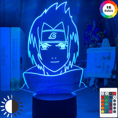 Sasuke Uchiha Face Design Child Night Light Led Touch Sensor Usb Battery Powered Nightlight for Home Decor Lamp Naruto Gift - Slabiti
