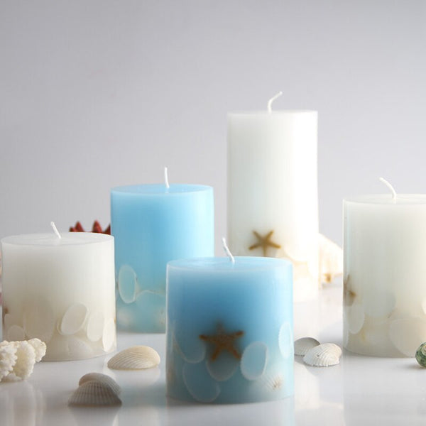 Seashell Aromatherapy Candles starfish Candle Smokeless big candle Home Decor wedding party decoration