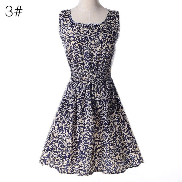 Sexy Strapless Beach Summer Dress Sundresses Vintage Bohemian Mini Dress Robe Femme Boho Floral Women Fashion dress hot Vestido