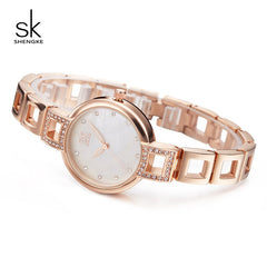 Shengke Women Quartz Watches Brand Luxury Stainless Steel Bracelet Clock Lady Dress Watch Reloj Mujer 2019 Female Gift #K0019 - Slabiti