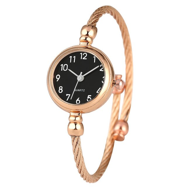 Slender Steel Bangle Watch for Women Quartz Timepiece Elegant Bracelet Clock Girls Casual Female Cuff Watches Gifts reloj - Slabiti