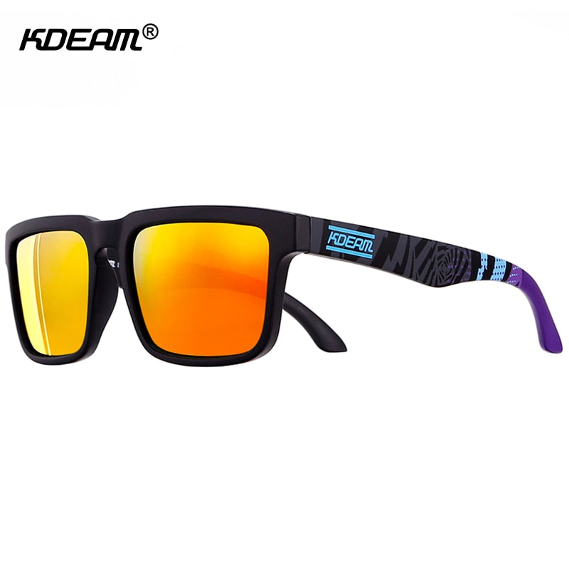 Sport Polarized Sunglasses Men Brand Designer Sunglass Mirrored UV400 Sun Glasses Women With All-purpose Box KDEAM CE - Slabiti
