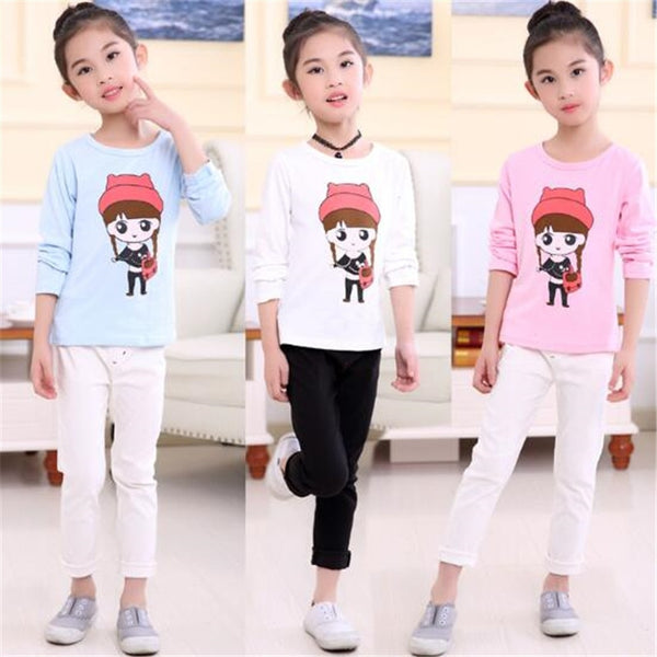 Spring 2018 Autumn Baby Girls Shirt Children Shirts Long Sleeve Kids Baby Girl Blouse Outwear Cute 2-11T Toddler O-Neck Cotton - Slabiti