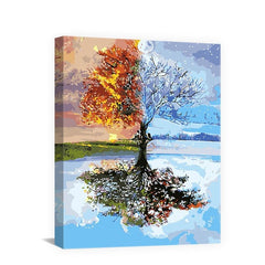 Spring Natural Scene Waterfall DIY Handpainted Pictures On Canvas Painting By Numbers For Unique Gift Living Room Wall Art - Slabiti