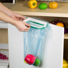 Square Garbage Bag Holder Trash Bag Holder Kitchen Garbage Bag Cupboard Door Back Hanging Drawer Storage Rack Cabinet Trash Rack - Slabiti