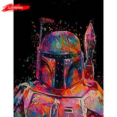 Star Wars 7 Darth Vader DIY Oil Digital Painting By Numbers On Canvas Hand Painted Movie Wall Art Picture Living Room Home Decor - Slabiti