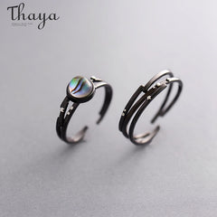 Thaya Stars Milky Galaxy Astronomy Ring Magical Gemstone 925 Sterling Silver Party Handmade Bands Jewellery for Women - Slabiti