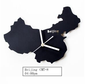 The Nordic Minimalist Modern Living Room Fashion Creative Art World Map Chinese BeiJing Clock - Slabiti