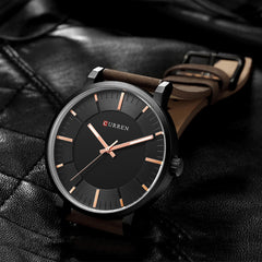 Top Brand CURREN Classic Mens Watches Fashion Analog Quartz Wrist Watch Male Simple Clock Casual Leather Watch Relogio Masculino - Slabiti