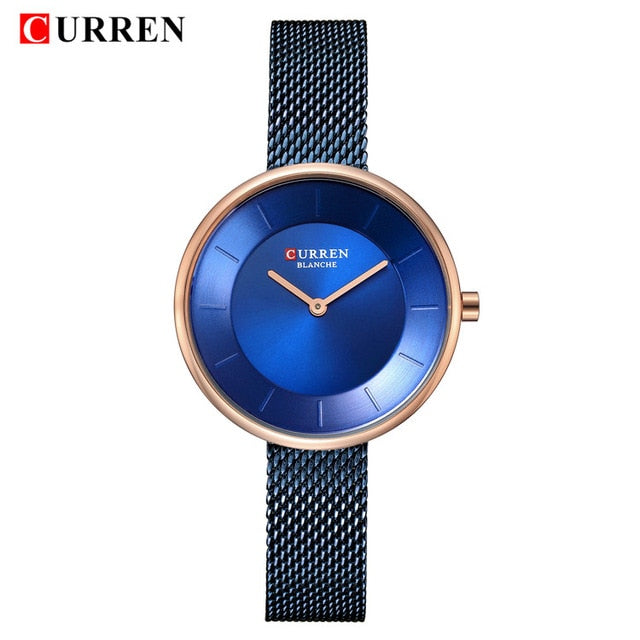 Top Brand Luxury CURREN New Fashion Casual Simple Business Watches Classic Dial Ultra thin Quartz Wristwatches Clock reloj mujer - Slabiti