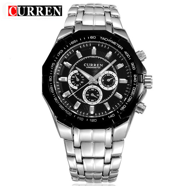 Top Brand Luxury Watch CURREN Casual Military Quartz Sports Wristwatch Full Steel Waterproof Men's Clock Relogio Masculino - Slabiti