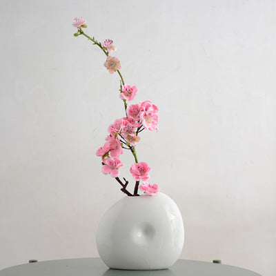 Traditional Chinese  Ceramic vase Buddhist mood Plum blossom Flat bottle  Vases Dry flowers Crafts Home decoration  Bottles