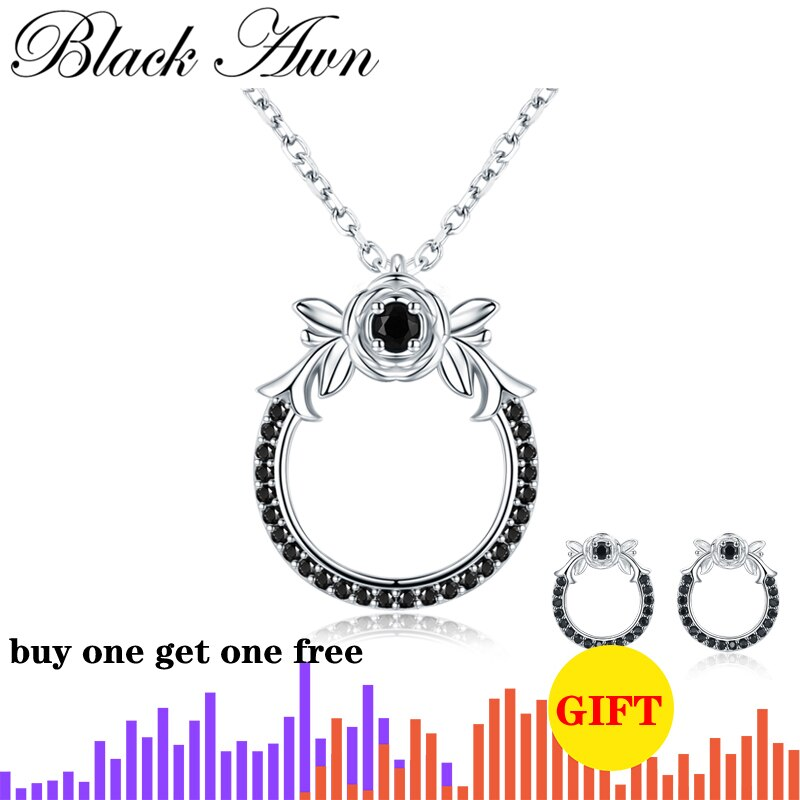 Trendy 925 Sterling Silver Jewelry Necklace for Women Flower Necklaces Pendants Female Bijoux Girl's Gift K026 - Slabiti