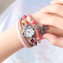 Trendy Women Leather Bracelet Watch Cuff Jewelry Clock for Lady Girl Top Brand Luxury Female Wristwatches New Arrival 2019 - Slabiti