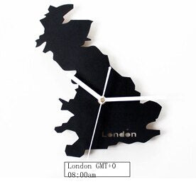UK London Time British Super Silent Scanning Movement Metal watch, Living Room Wall Clock - Slabiti