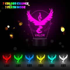 VCity 3D Night Light Led Table Lamp Cartoon Japanese Pokemon VALOR RGB Change Multicolor Luminaria Atmosphere USB Mood Lighting - Slabiti