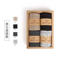 VVQI Winter merino Wool funny Socks women Keep Warm Woman Socks Thickening Thick Thread Socks 4pair/lot mens business sock dress - Slabiti